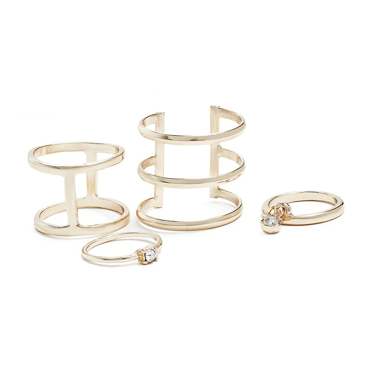 Maddie Gold-Tone Midi Ring Set