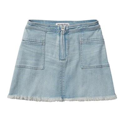 Zip Front A-Line Skirt