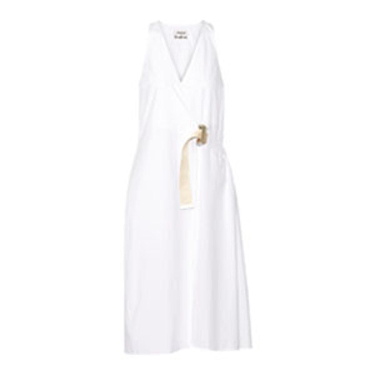 Chen Cotton Poplin Midi Dress