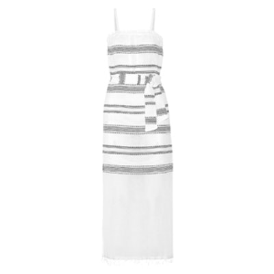 Addis Striped Cotton-Blend Gauze Dress