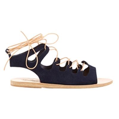 Antigone Suede Lace-Up Sandals