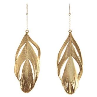 Swan Feathers Drop Earrings