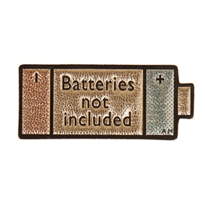 Batteries Not Included Metallic Sticker