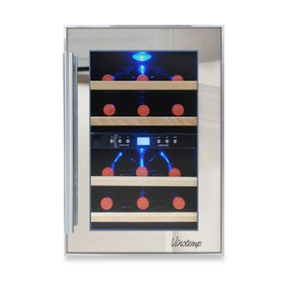12-Bottle Dual Zone Mirrored Wine Cooler