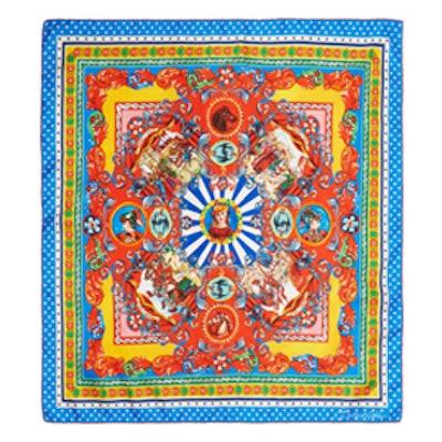 Carretto Printed Silk-Twill Scarf