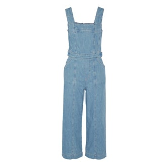 The Dweller Cropped Denim Overalls