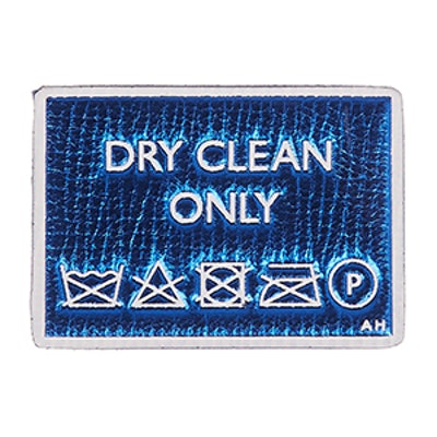 Dry Cleaning Metallic Sticker