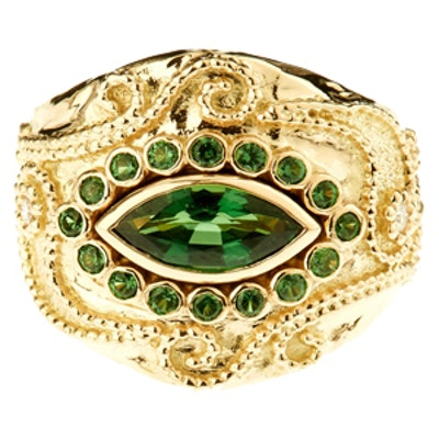 Diamond, Tourmaline & Yellow-Gold Ring