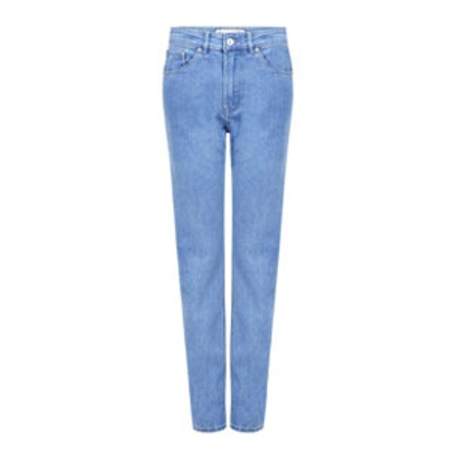 High Waist Skinny Embroidered Pocket Jeans