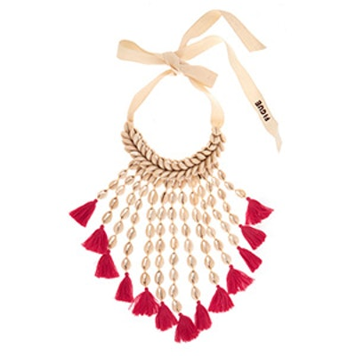 Sina Shell & Tassel Necklace