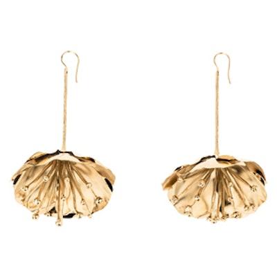 Flower Gold-Plated Drop Earrings
