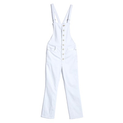 Shayne Ever White Button-Down Overalls