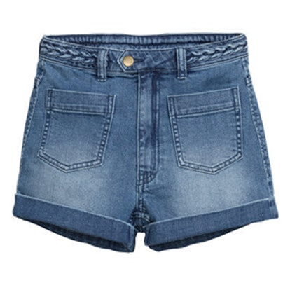 Two Pocket Denim Shorts