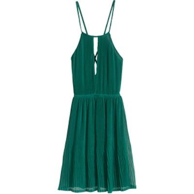 Pleated Halterneck Dress