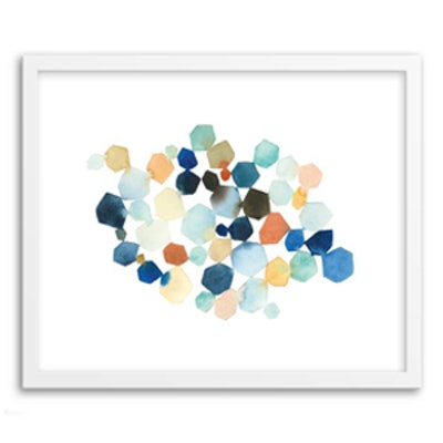 Hexagon Cluster Print