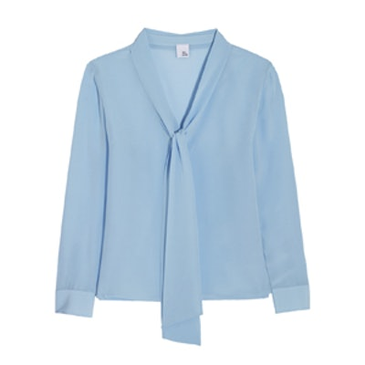 Liliana Pussy Bow Silk Crepe De Chine Blouse