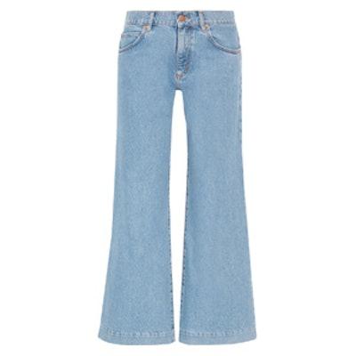 Topanga Mid-Rise Wide-Leg Jeans