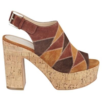 Queenie Patchwork Platform Sandal