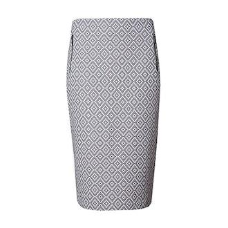 Jacquard Pencil Skirt
