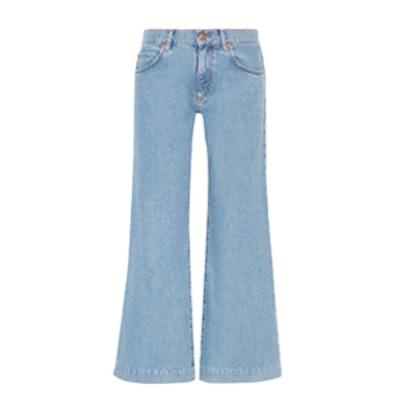 Topanga Mid Rise Wide Leg Jeans
