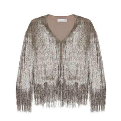 Isla Metallic Fringed Cardigan