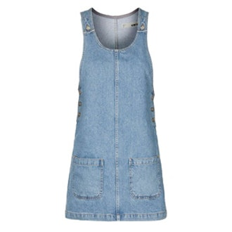 Scoop Patch Denim Dress