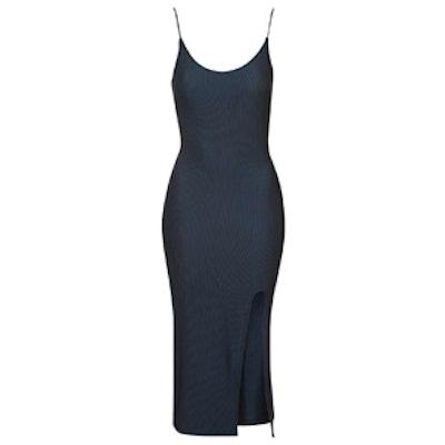 Scoop Split Midi Dress