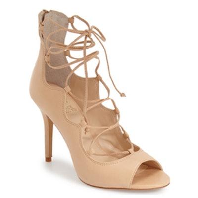 'Sandria' Peep Toe Ghillie Sandal