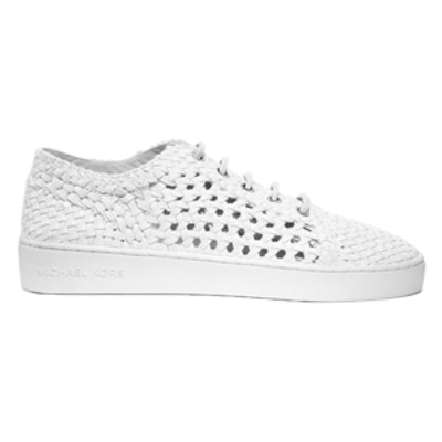 Violet Woven-Leather Sneaker