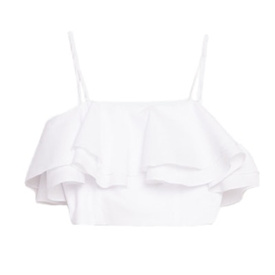 Frilled Bustier Top