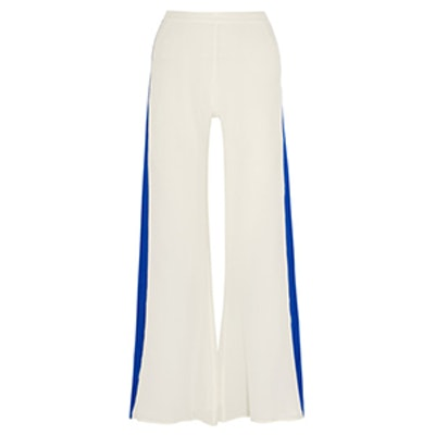 Alcyone Silk Crepe De Chine Wide-Leg Pants