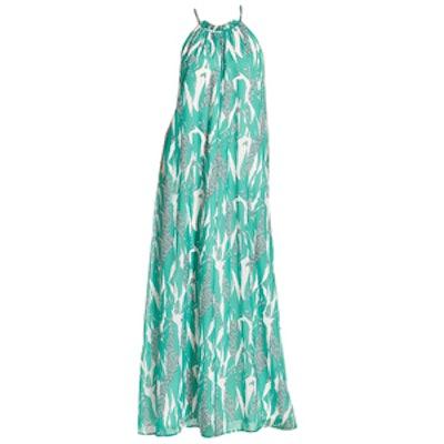 Print Halter Maxi Dress