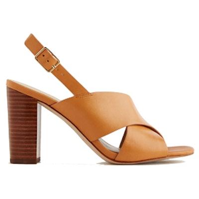 Louisa Block Heel Leather Sandals