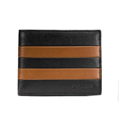 Modern Varsity Slim Billfold ID Wallet in Sport Calf Leather