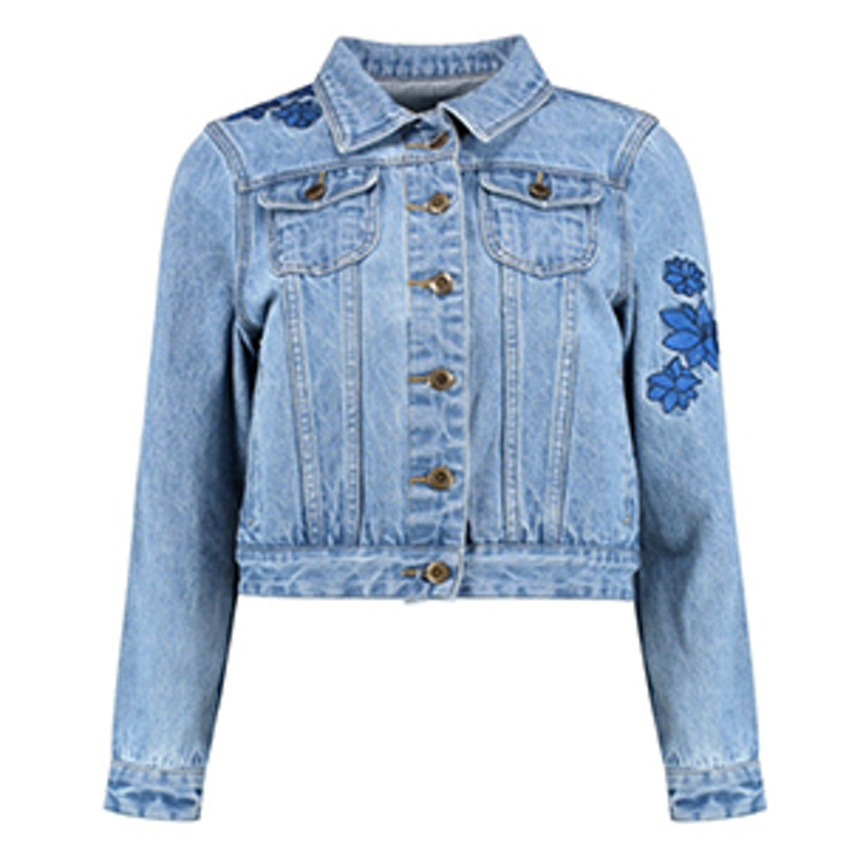 Sadie Embroidered Denim Jacket