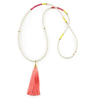 Horizon Pink Tassel Necklace