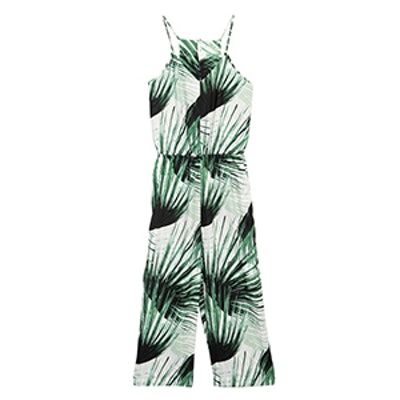 Tropical Printed Culotte Romper