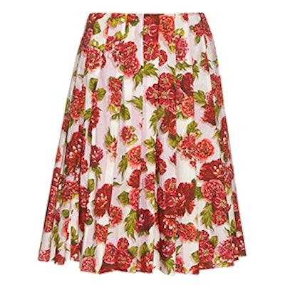 Polly Floral-Print A-Line Skirt
