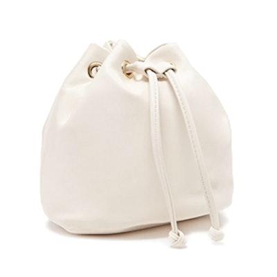 Mini Faux Leather Bucket Bag