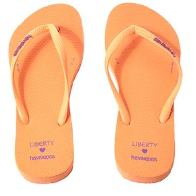 Peach Slim Flip Flops