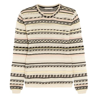 Striped Pointelle-Knit Cotton-Blend Sweater