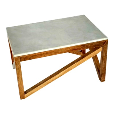 Wood and Marble Coffee Table