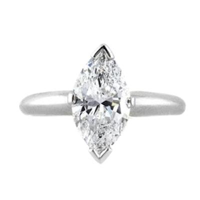Marquise Cut Diamond Engagement Ring