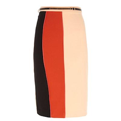 Color Block Pencil Skirt