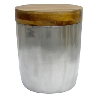 Silver Storage Drum Accent Table
