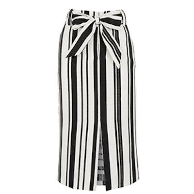 Textured Stripe Pencil Skirt