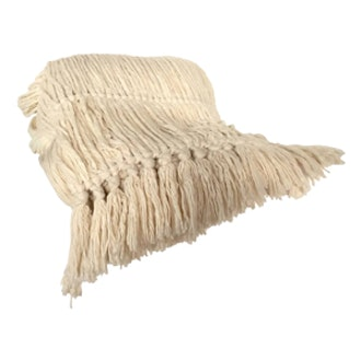 Longstrand Woven Throw White