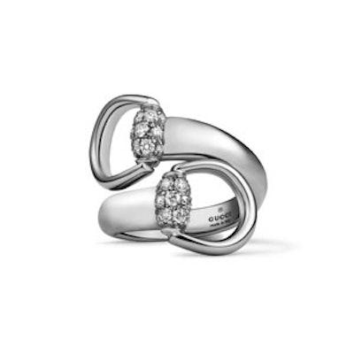 White Gold Horsebit Ring