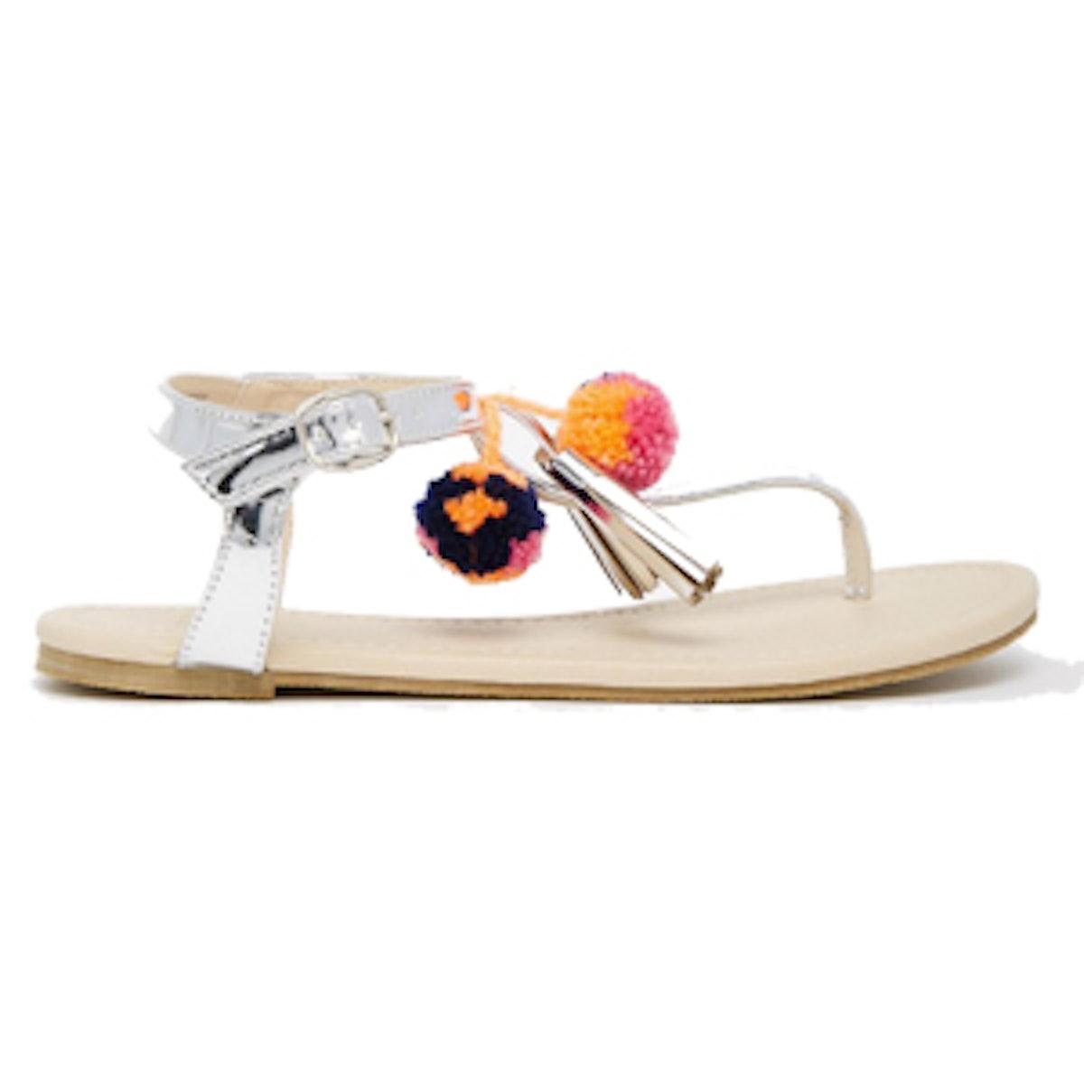 Fruit Loop Pom Sandals