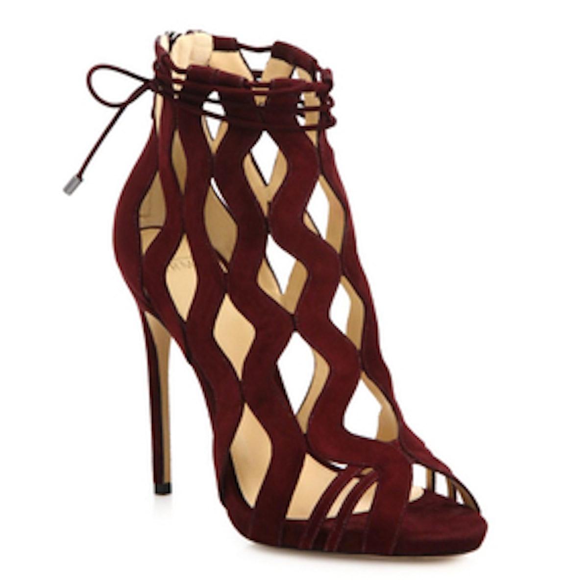 Loretta Sue Suede Cutout Sandals